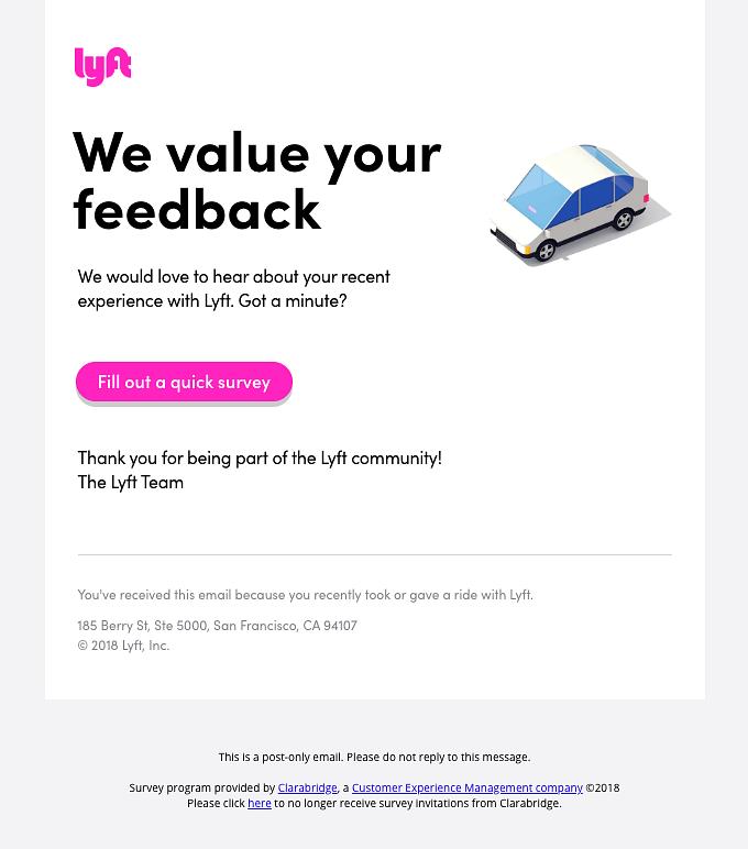 Asking for customer feedback
