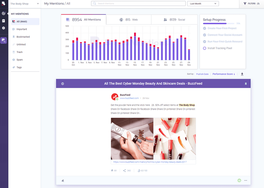 BrandMentions e-commerce tool