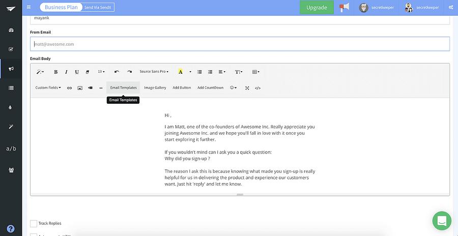 SendX WYSIWYG Editor