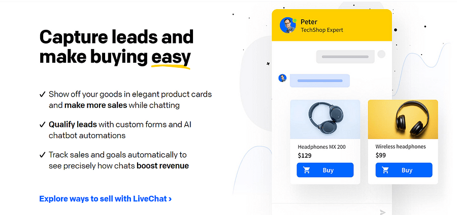Livechat eCommerce tool