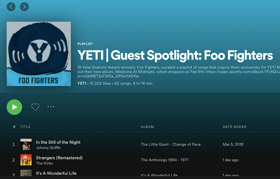 CTA linking to the Spotify playlist