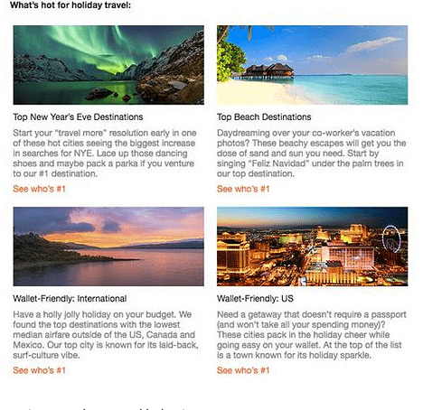 Designing creative content for travel email marketing