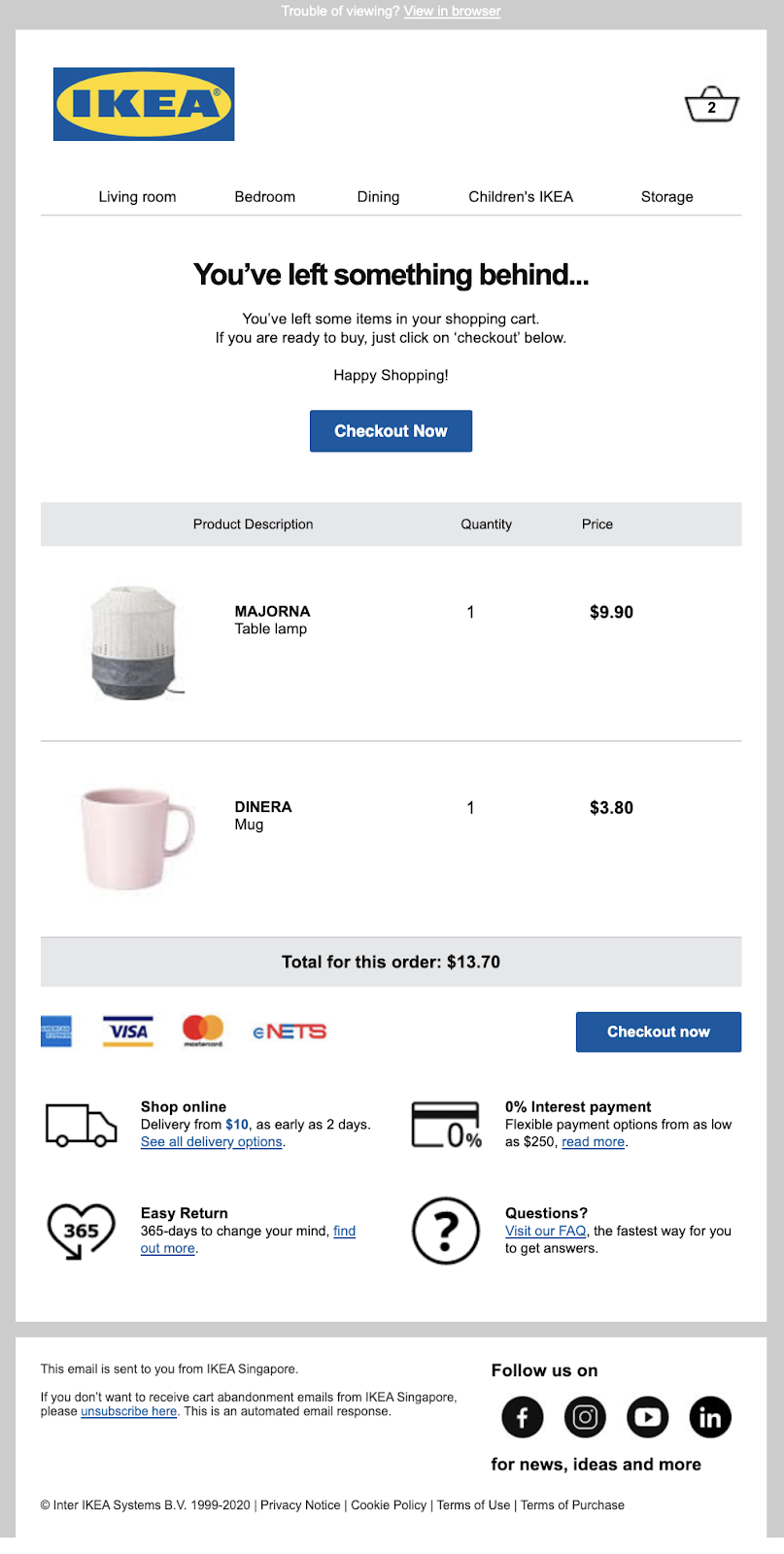 Types of Transactional Email_Abandoned Cart