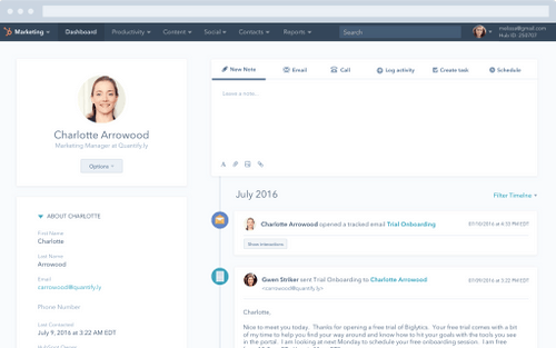 personalized emails via HubSpot